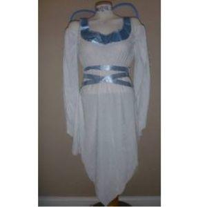 Womens White Angel Costume Dress, Wings & Halo